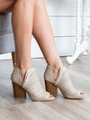 Alessia Open Toe Bootie - Ivory
