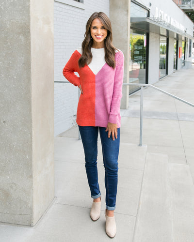 A Feeling Like This Sweater - Pink Multi