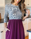 A Love So Sweet Midi Dress - Wine