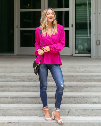 A Touch Of Fun Top - Magenta