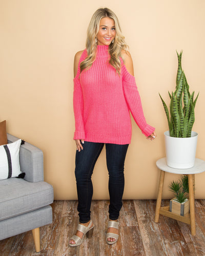 A Bright Idea Sweater - Hot Pink