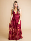 A Love So Deep Lace Maxi - Wine
