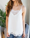 A Serious Crush Lace Tank - Off White