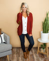 A Simple Favor Cardigan - Red Rust