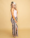 A Summer Stroll Stripe Pant - Pink Multi