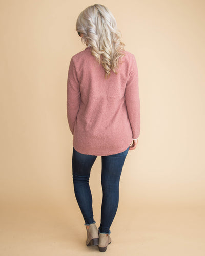 A Warm Embrace Pullover - Blush