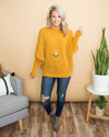 A Way To Romance Chenille Sweater -  Mustard