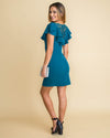 A Winter's Night Lace Ruffle Dress - Deep Teal
