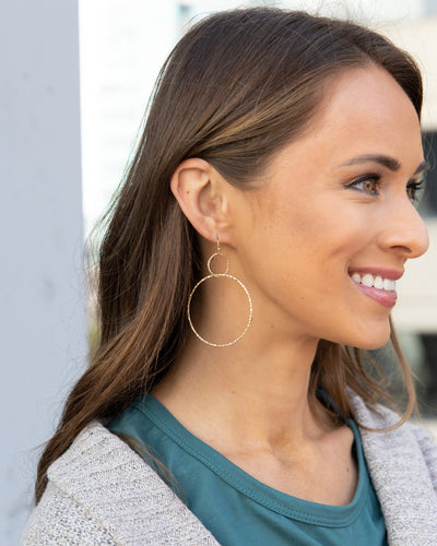 Addie Double Hoop Earrings - Gold