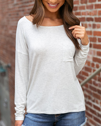 After The Rain Top - Heather Grey