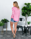 Afternoon Daydream Sweater - Vivid Pink
