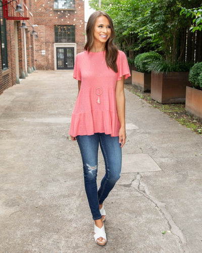 Afternoon Glow Top - Coral
