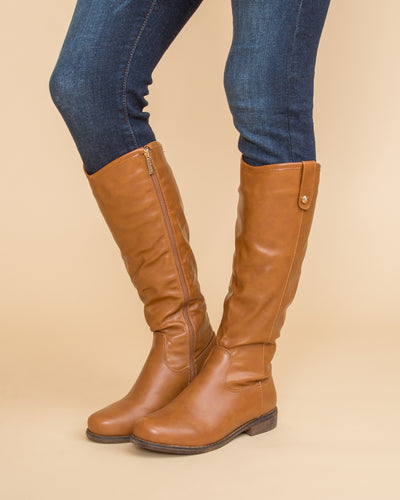 Alexis Riding Boot - Cognac