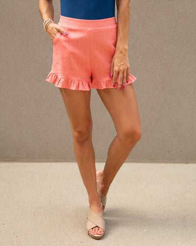 All Dolled Up Shorts - Coral