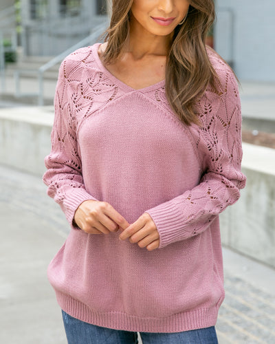 All Smiles Sweater - Mauve