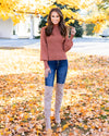 All The More Charming Sweater - Terracotta