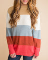 All Is Well Oversized Color-Block Sweater - Tan