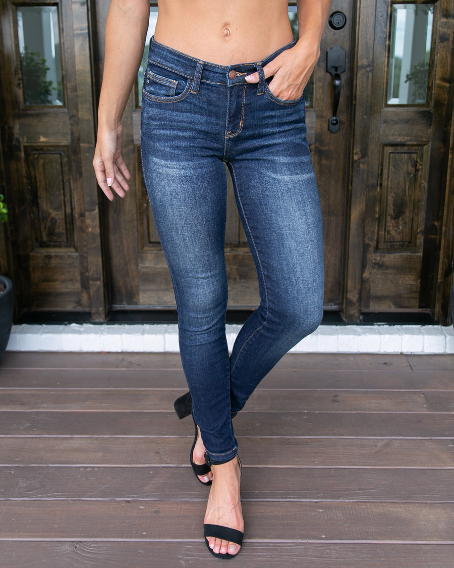 Allie Skinny Jeans - Dark Wash