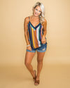 Always A Daydreamer Stripe Tank - Multi