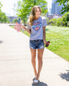 America's Sweetheart Graphic Tee - Grey