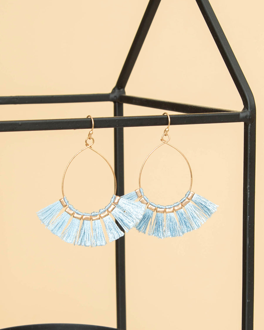 Anna Tassel Earrings - Lt Blue