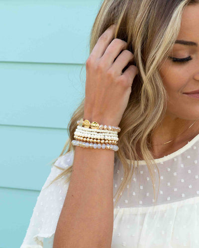 Annie Stackable Bracelet - Off White
