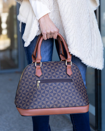 Arden Handbag And Matching Wallet - Coffee