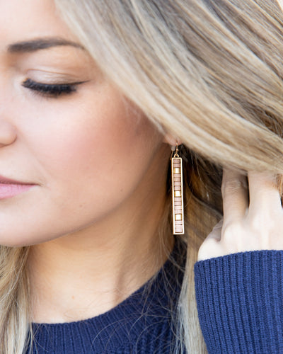Aria Beaded Earrings - Tan
