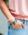Aria Stackable Bracelet - Navy/Orange