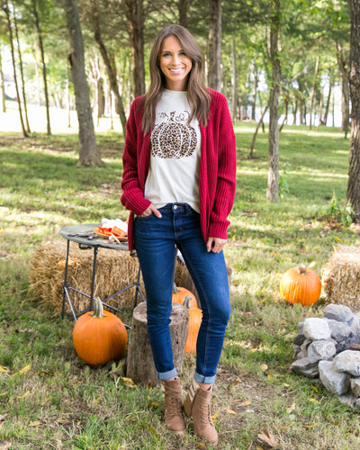 At The Pumpkin Patch Graphic Tee - Cream