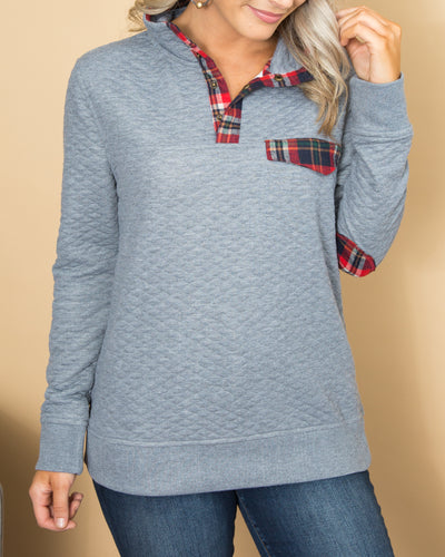 Autumn Breeze Pullover - Grey