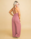 Away For The Weekend Jumpsuit - Mauve