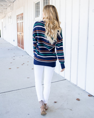 Back To The Start Sweater - Navy