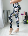Be Flexible Floral Legging - Black