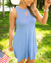 Beachside Beauty Dress - Dusty Blue