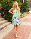 Beautiful Wonders Floral Dress - Mint