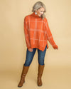 Beauty In Breckenridge Oversized Plaid Top - Rust