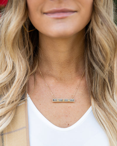 Beck Necklace - Grey