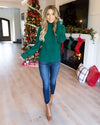 Staying Warm Sweater - Forest Green