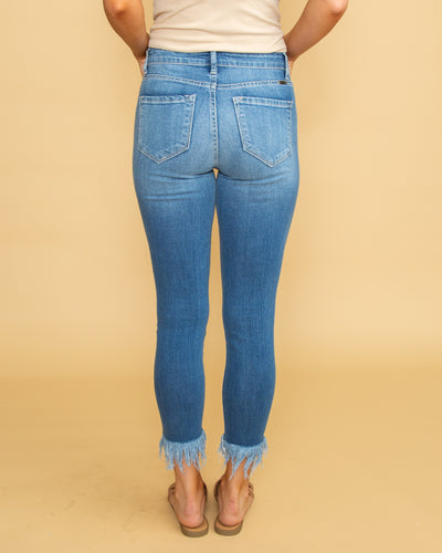 Bella Frayed Cropped Jean - Light Wash