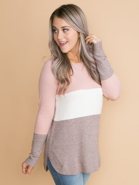 Best Things In Life Color-Block Top - Mauve