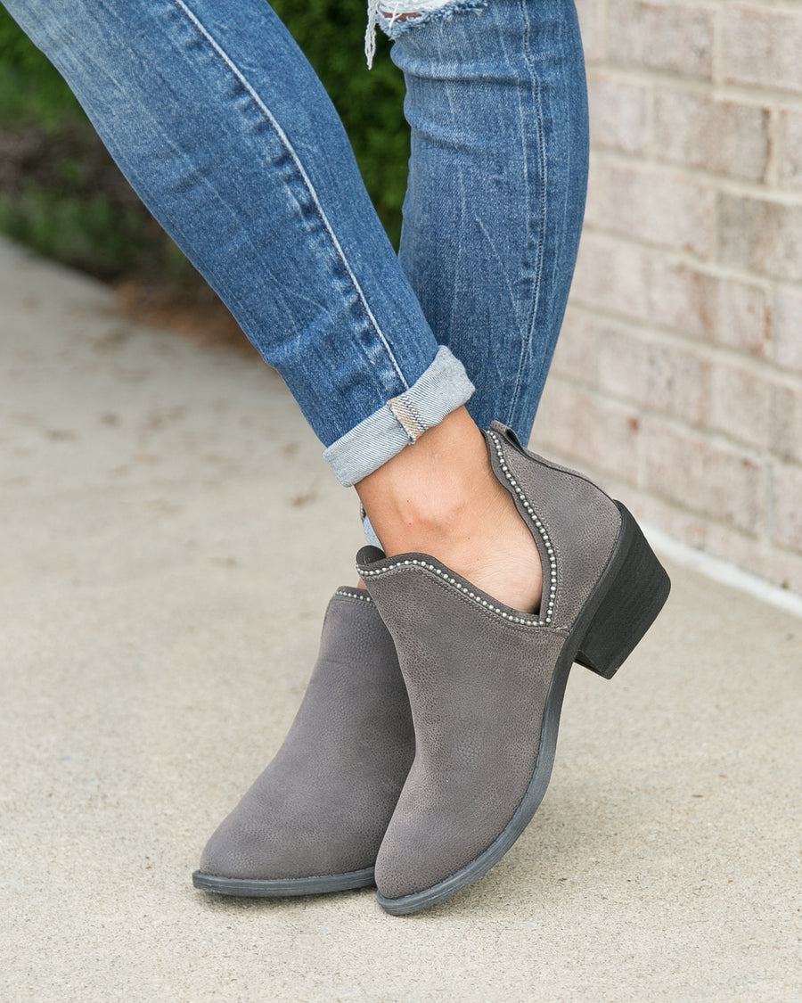 Blakely Booties - Grey