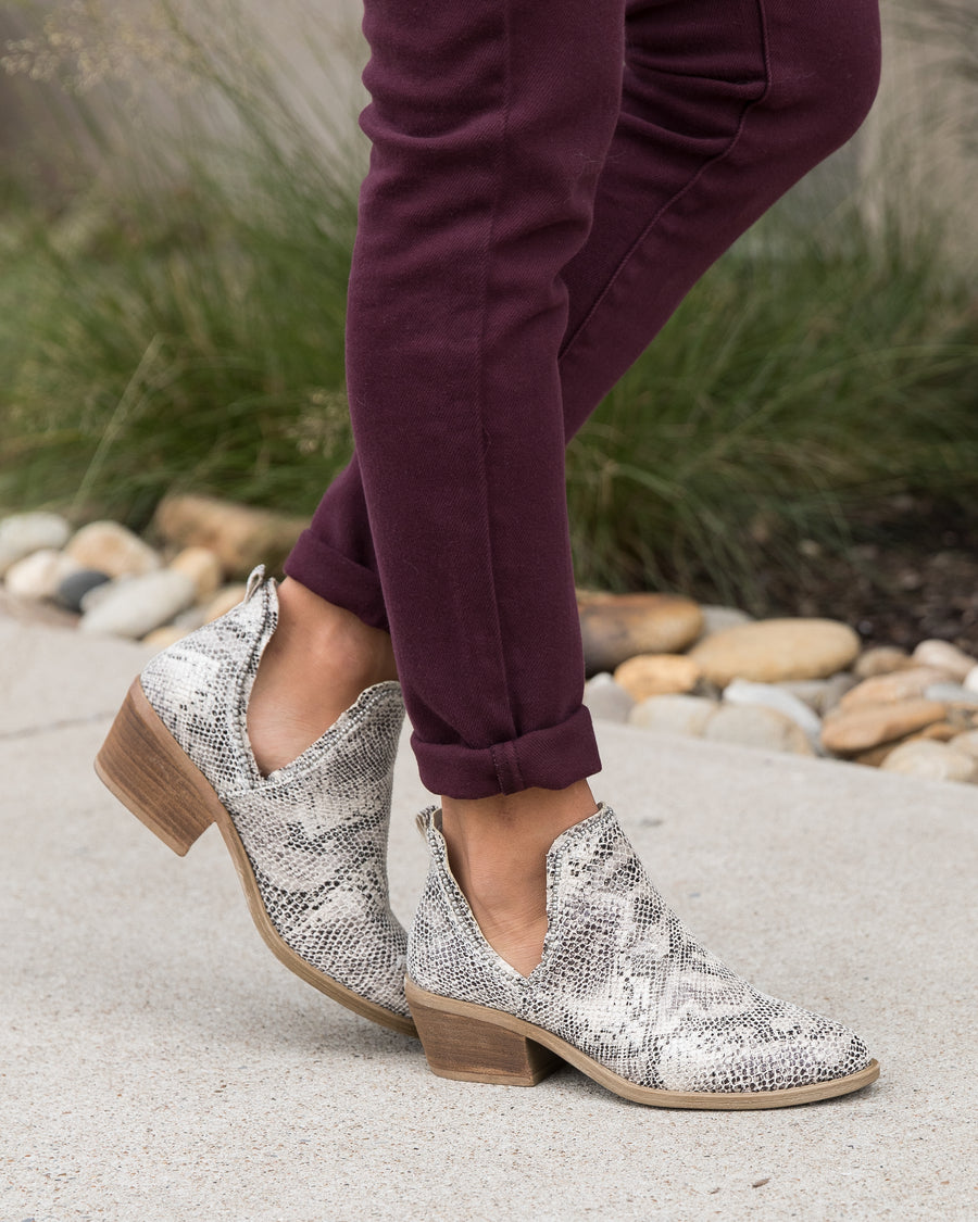 Blakely Booties - Snakeskin