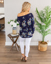 Blissful Moments Top - Navy