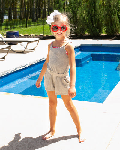 Boathouse Romper Kids - Heather Grey
