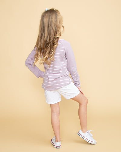 Born To Have Fun Stripe Top - Lilac