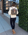 Bria Backpack And Matching Wallet - Coffee