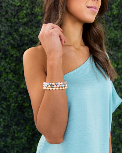 Brinley Stackable Bracelet - Gold Multi