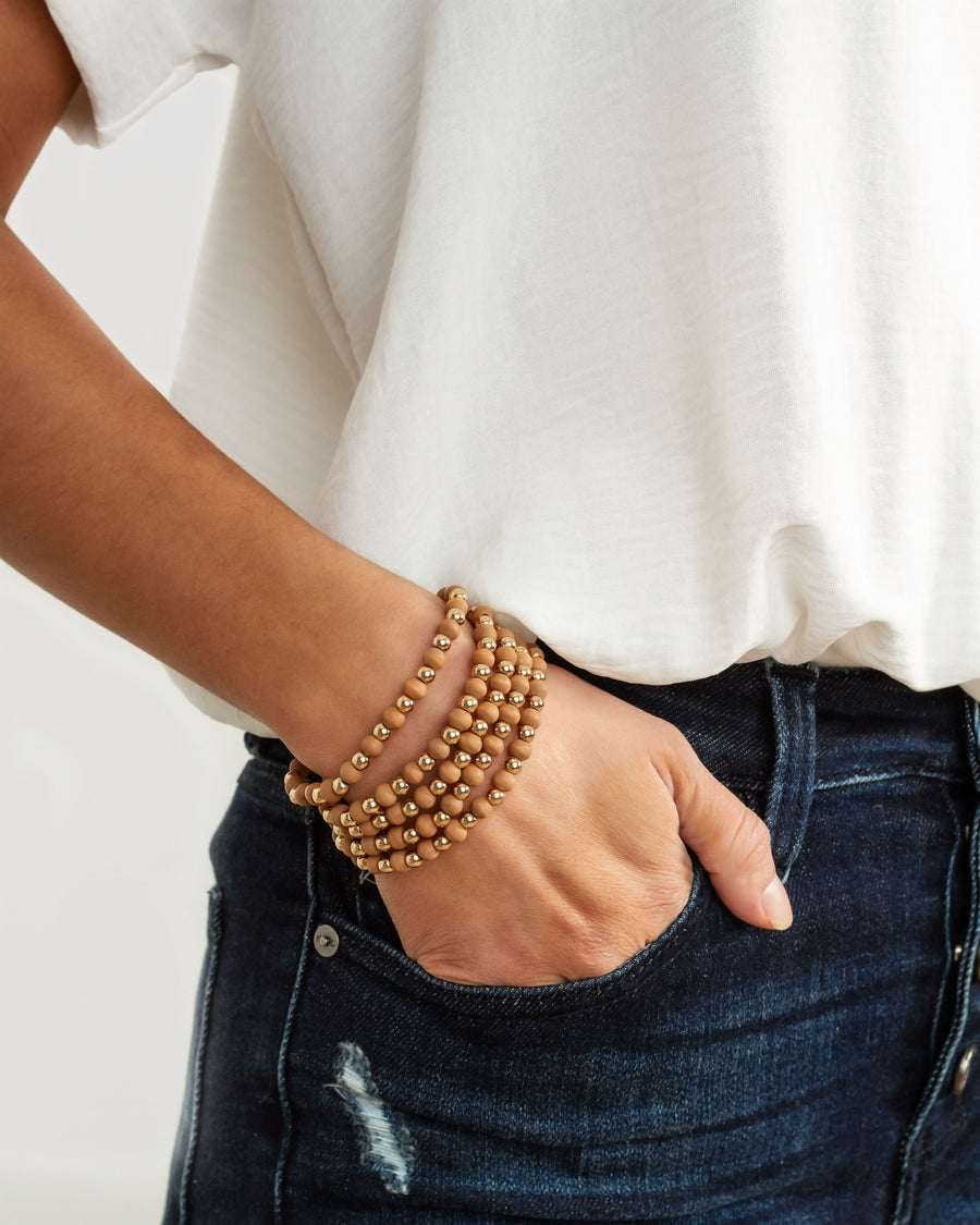 Brittany Beaded Bracelet - Gold
