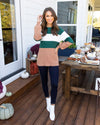 By The Book Sweater - Emerald Multi